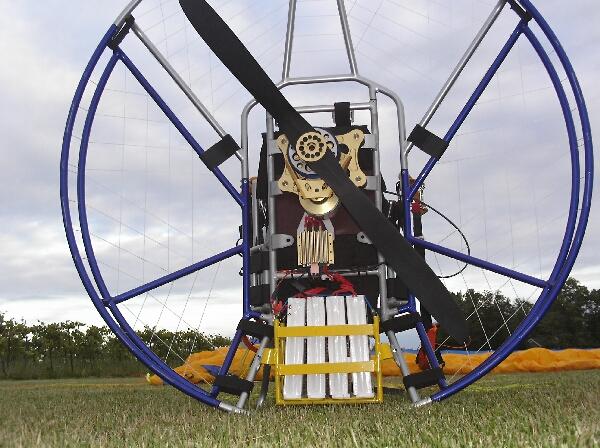 The electric paramotor - close up