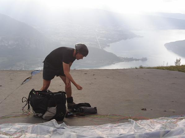 Jason Andrews preparing to launch his Firebird Z-one