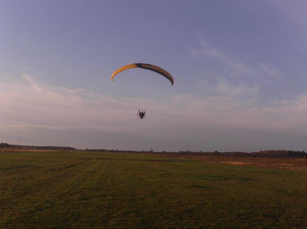 Dan flying his Walkerjet - just after take off