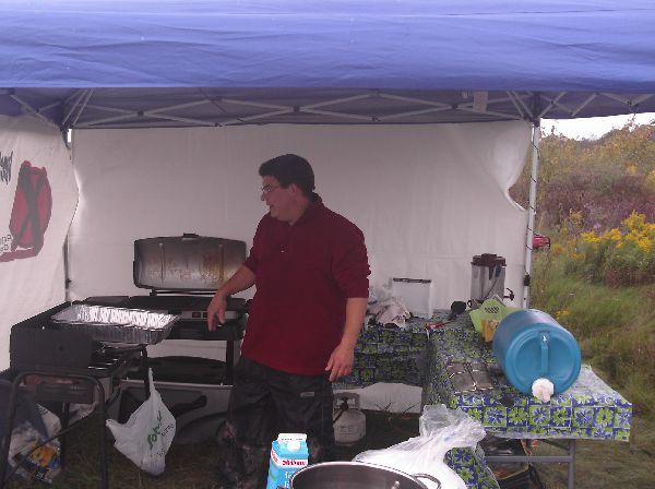 Dan in his mobile kitchen