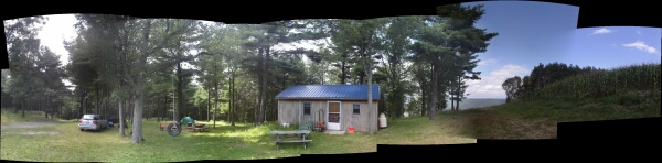panoramic photo - launch at Hammondsport
