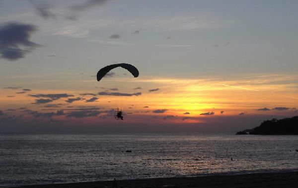 Paramotors at sunset - Oludeniz